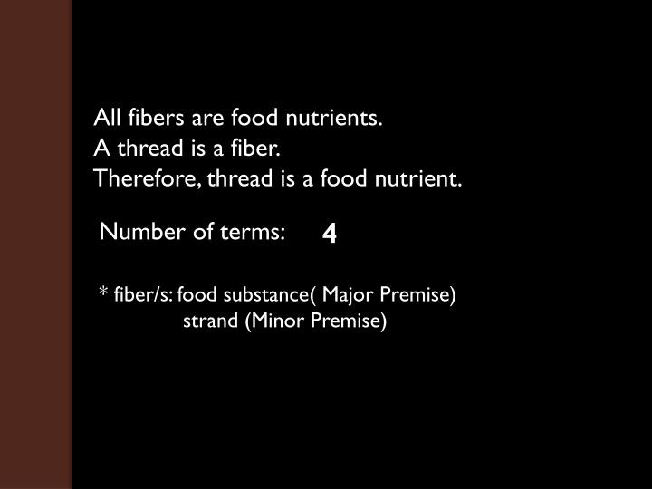 All fibers are food nutrients.
