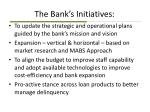 the bank s initiatives