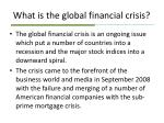what is the global financial crisis