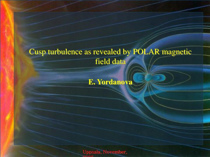 Cusp turbulence as revealed by POLAR magnetic field data