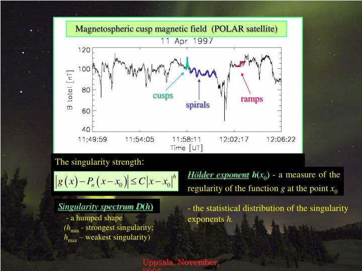 Magnetospheric cusp magnetic field  (POLAR satellite)