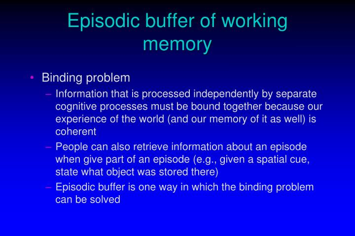 Episodic buffer of working memory