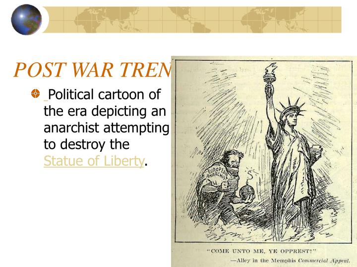 Political cartoon of the era depicting an anarchist attempting to destroy the