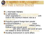 post world war i issues and the united states1