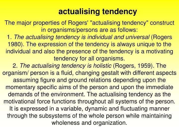 actualising tendency