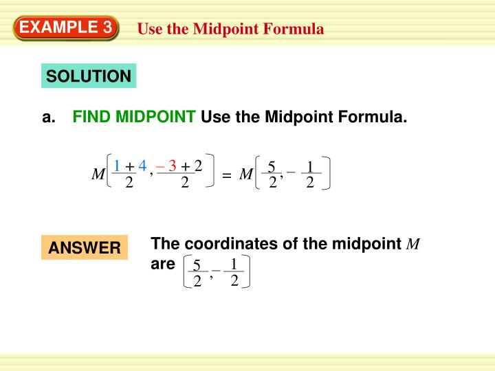 how to find the midpoint of a line segment formula