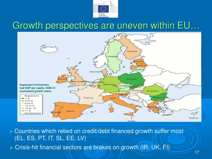 Growth perspectives are uneven within EU…
