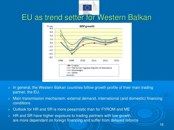 EU as trend setter for Western Balkan