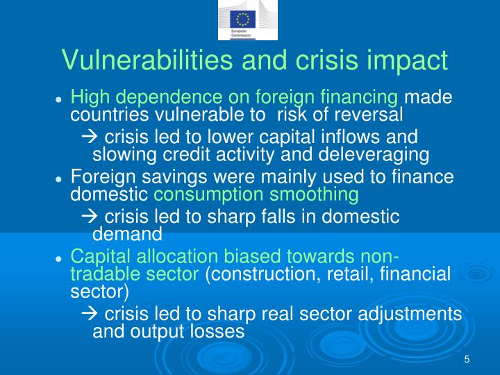 Vulnerabilities and crisis impact