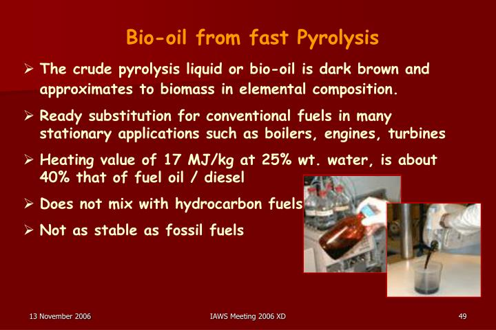 Bio-oil from fast Pyrolysis
