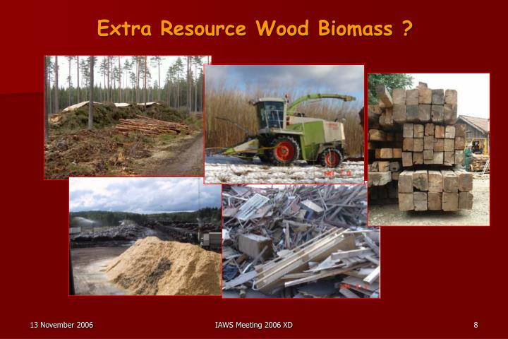 Extra Resource Wood Biomass ?