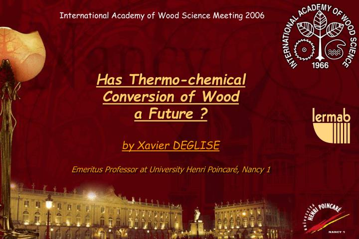 International Academy of Wood Science Meeting 2006