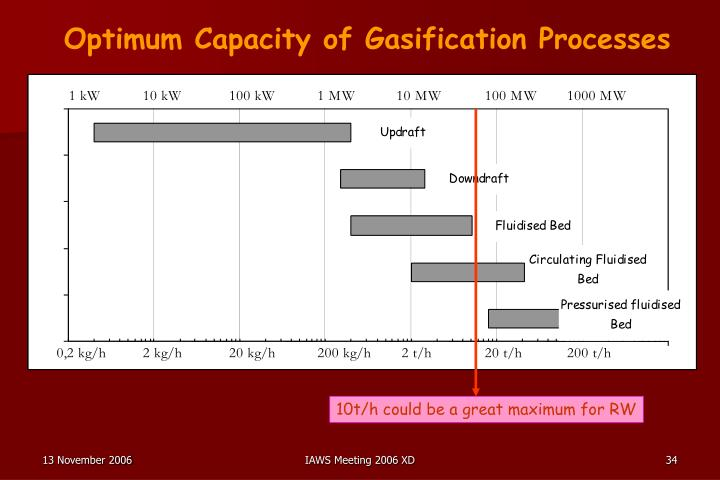 Optimum Capacity of Gasification Processes