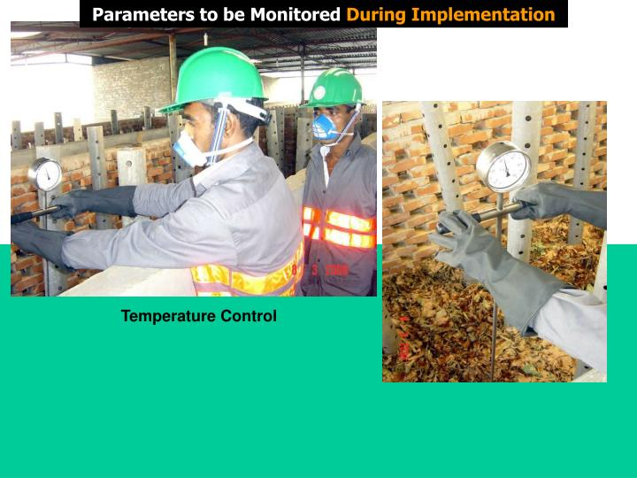 Parameters to be Monitored