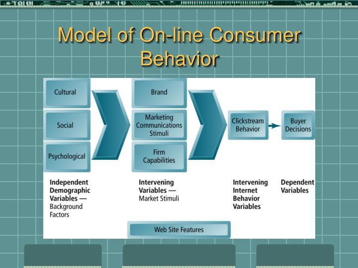 Model of On-line Consumer Behavior