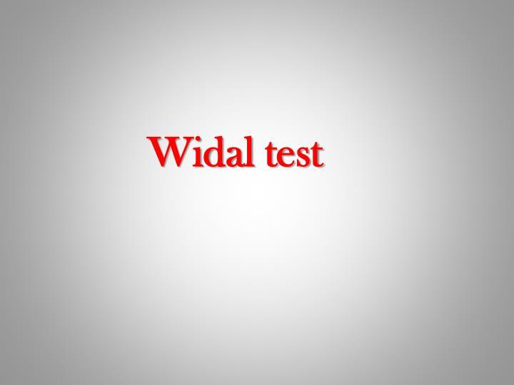 Widal