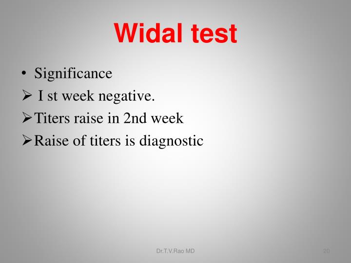 Widal test