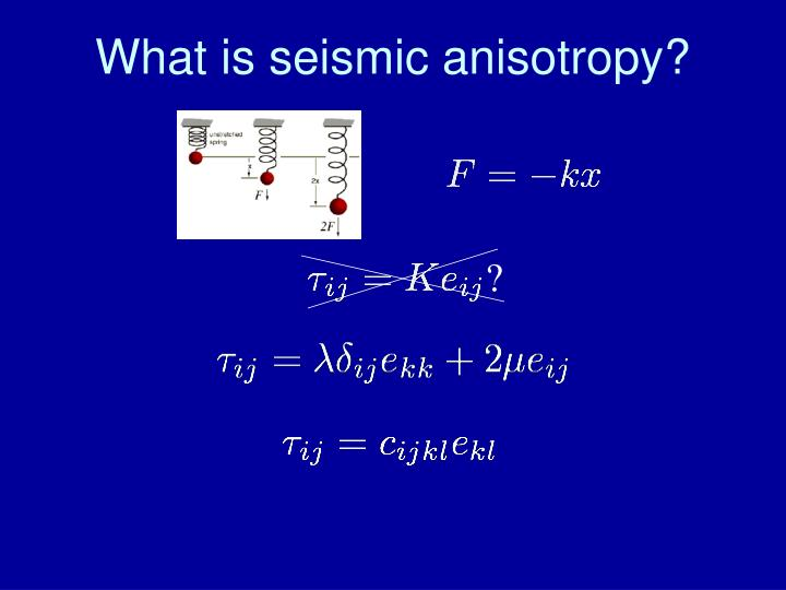 What is seismic anisotropy