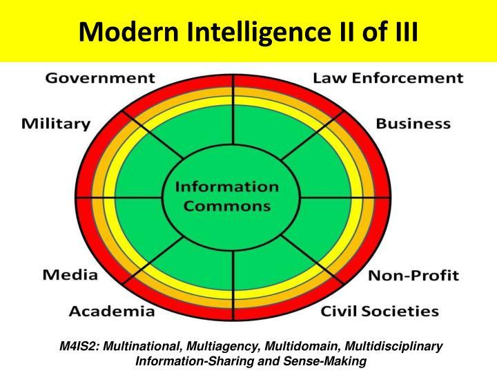 Modern Intelligence II of III