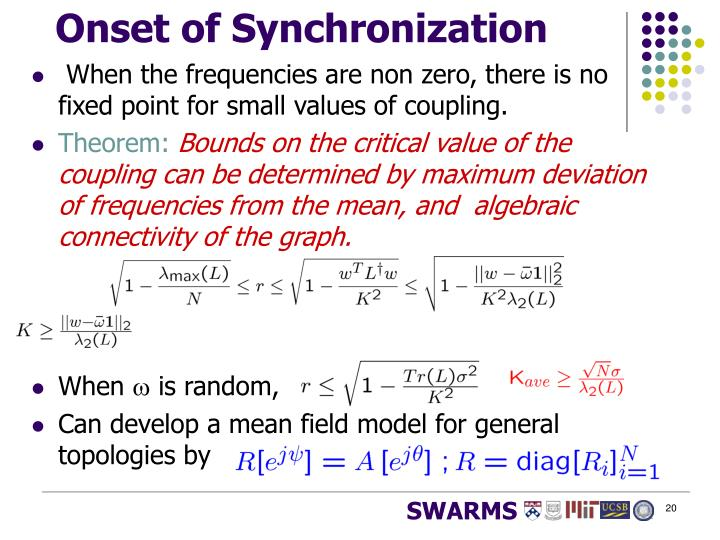 Onset of Synchronization