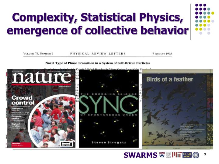 Complexity, Statistical Physics,