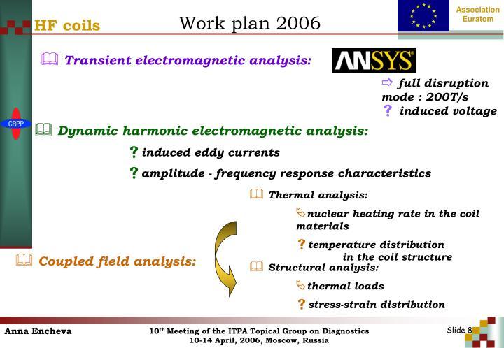 Work plan 2006