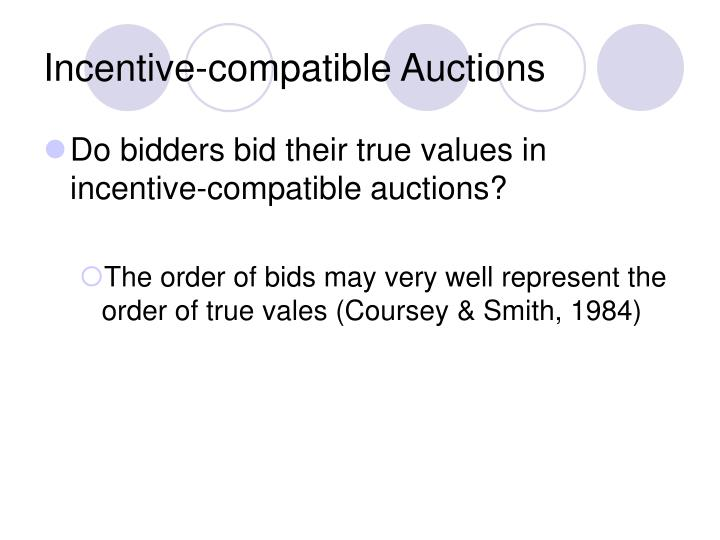 Incentive-compatible Auctions