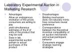 laboratory experimental auction in marketing research
