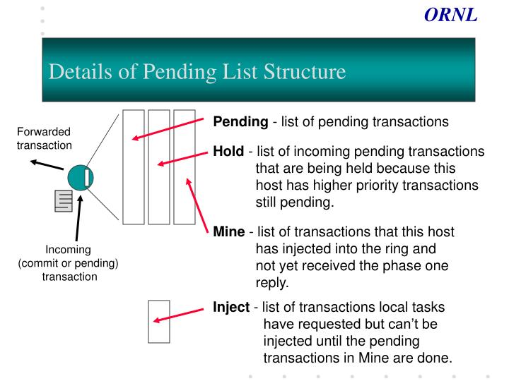 Details of Pending List Structure