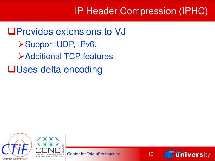 IP Header Compression (IPHC)