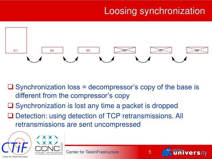 Loosing synchronization