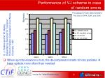 performance of vj scheme in case of random errors