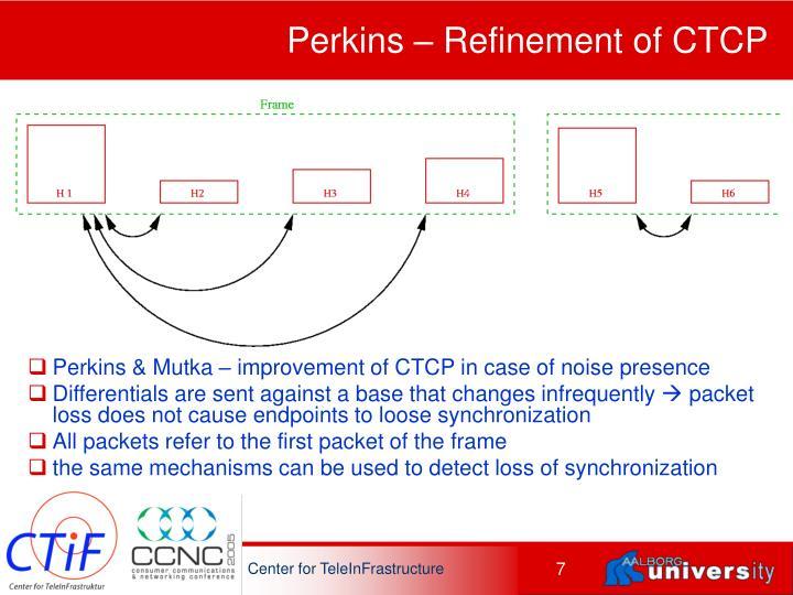 Perkins – Refinement of CTCP