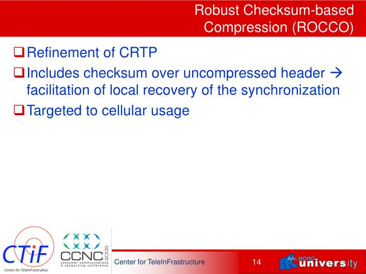 Robust Checksum-based Compression (ROCCO)