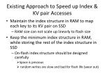 existing approach to speed up index kv pair accesses