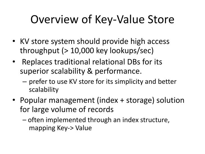 Overview of Key-Value Store