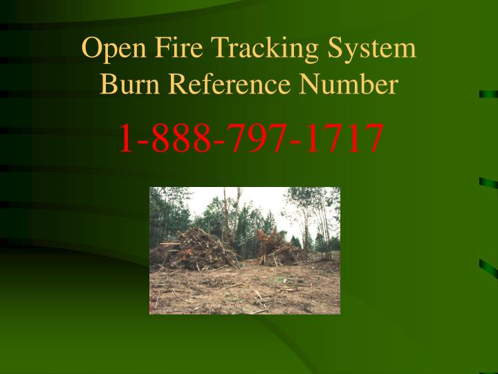 Open Fire Tracking System