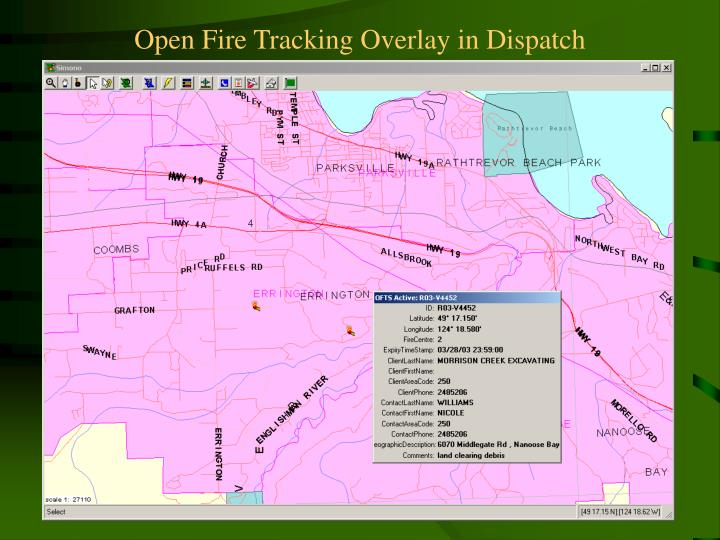 Open Fire Tracking Overlay in Dispatch