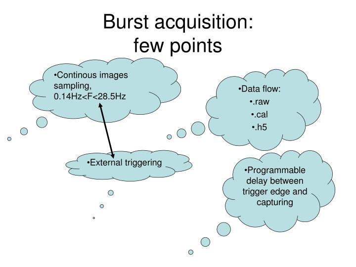 Burst acquisition: