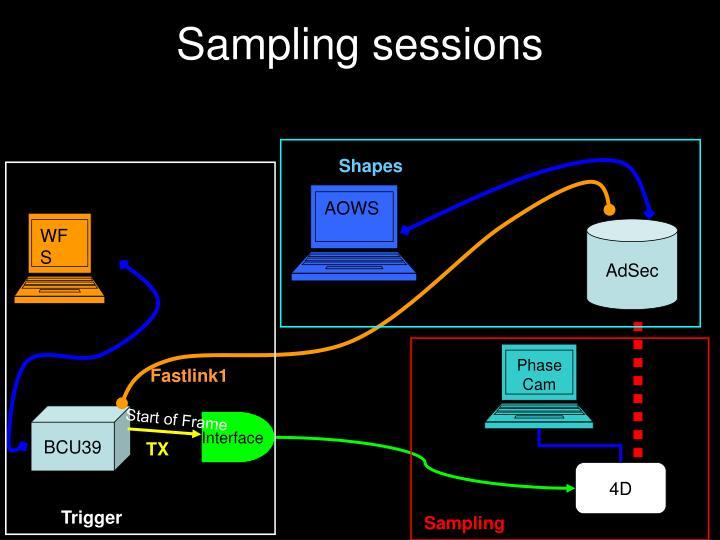 Sampling sessions