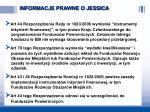informacje prawne o jessica