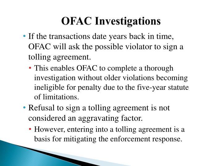 OFAC Investigations
