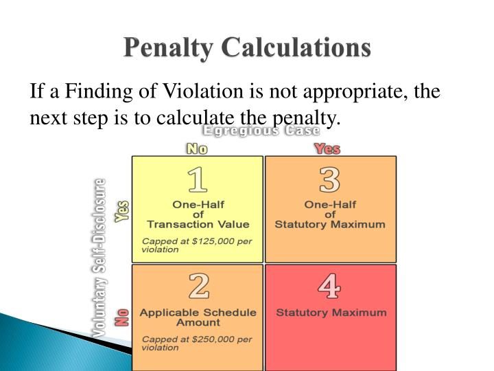 Penalty Calculations