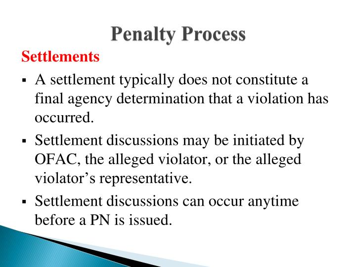 Penalty Process