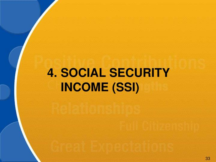 4.SOCIAL SECURITY INCOME (SSI)