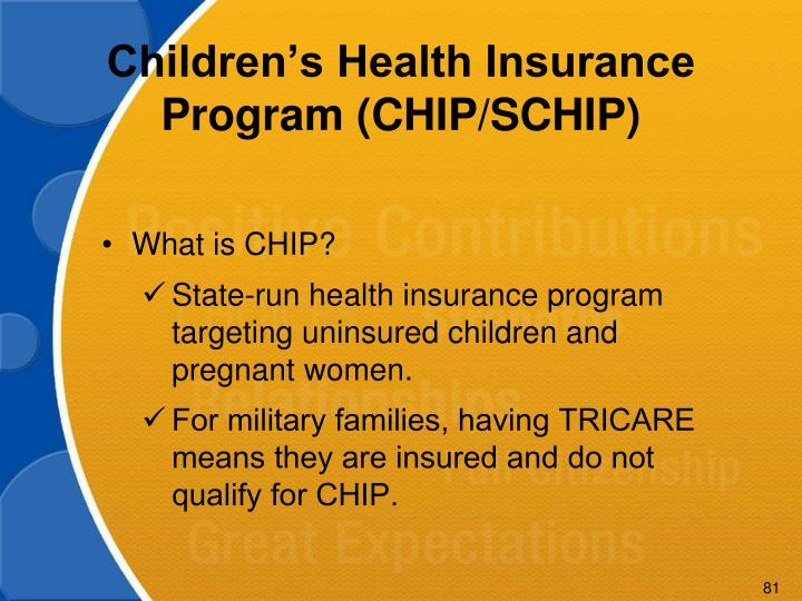 Children's Health Insurance Program (CHIP/SCHIP)