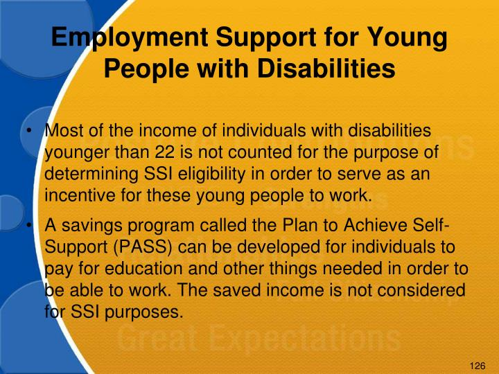 Employment Support for Young People with Disabilities