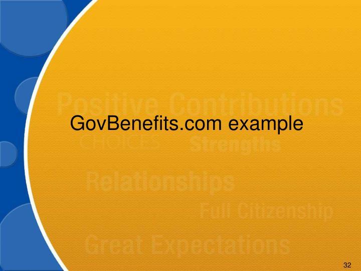 GovBenefits.com example