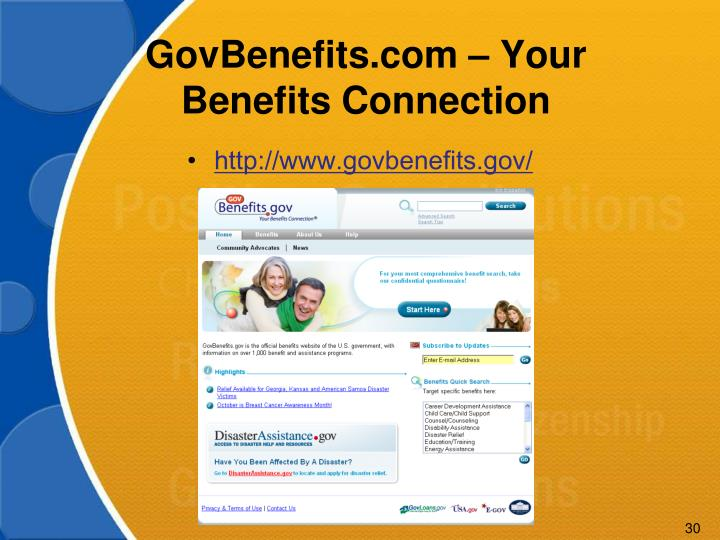 GovBenefits.com – Your Benefits Connection