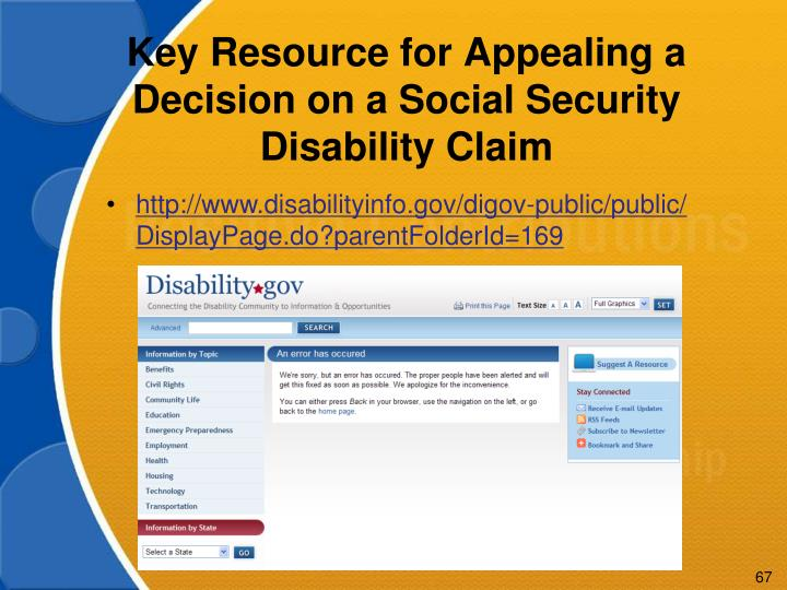 Key Resource for Appealing a Decision on a Social Security Disability Claim
